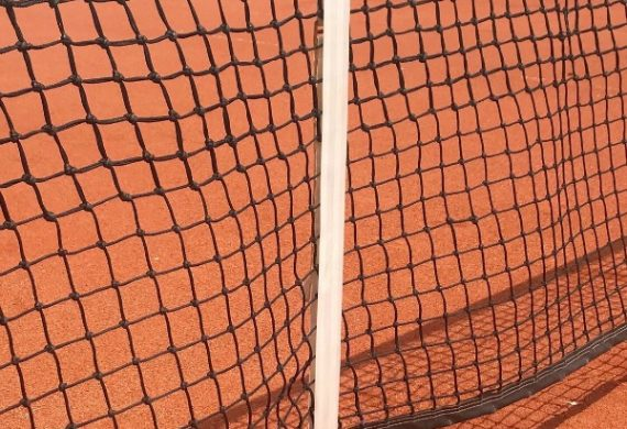 Tennis net centre straps